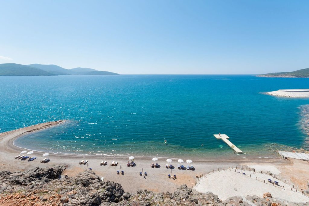Lustica Bay exclusive beach view